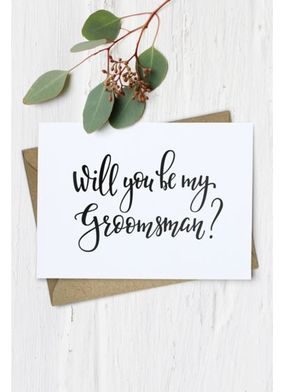 Will You Be My Groomsman Wedding Card - Wedding Gifts & Decorations