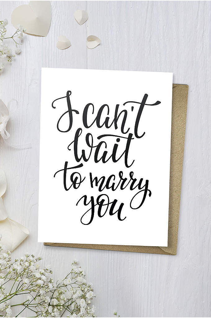 I Can't Wait to Marry You Wedding Card - Tell your beloved, I can't wait to marry
