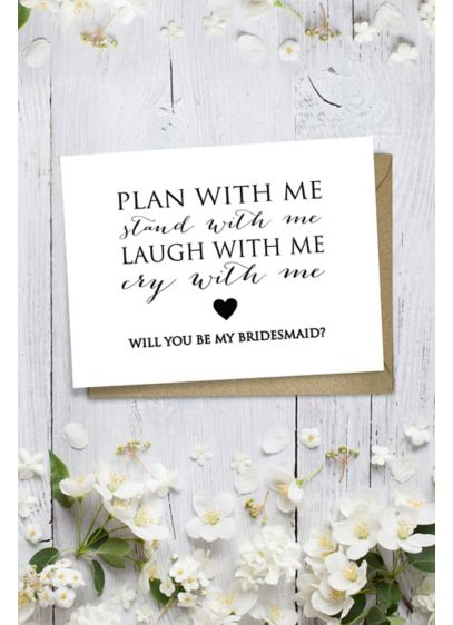 Heart Will You Be My Bridesmaid Wedding Card - Wedding Gifts & Decorations