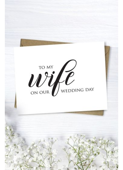 To My Wife Wedding Card - Wedding Gifts & Decorations