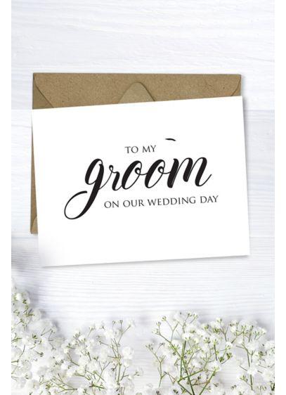 To My Groom Wedding Card - Wedding Gifts & Decorations