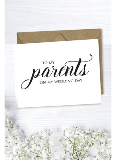 To My Parents Wedding Card - Wedding Gifts & Decorations