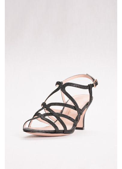 Blossom Black (Mid Heel Cage Sandals)