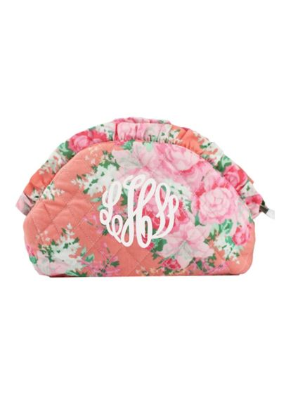 Personalized Floral Cosmetic Case - Wedding Gifts & Decorations