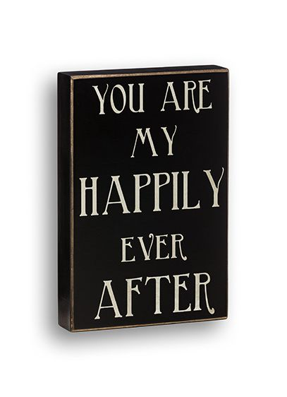 Happily Ever After Box Sign - Wedding Gifts & Decorations