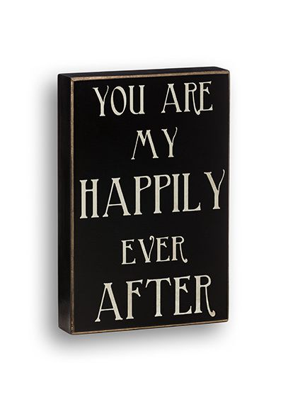 Happily Ever After Box Sign CS6483