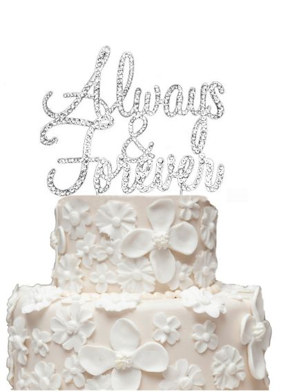 Rhinestone Always and Forever Cake Topper CT-ALWFRVR