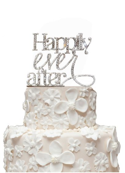 Rhinestone Happily Ever After Cake Topper - Wedding Gifts & Decorations