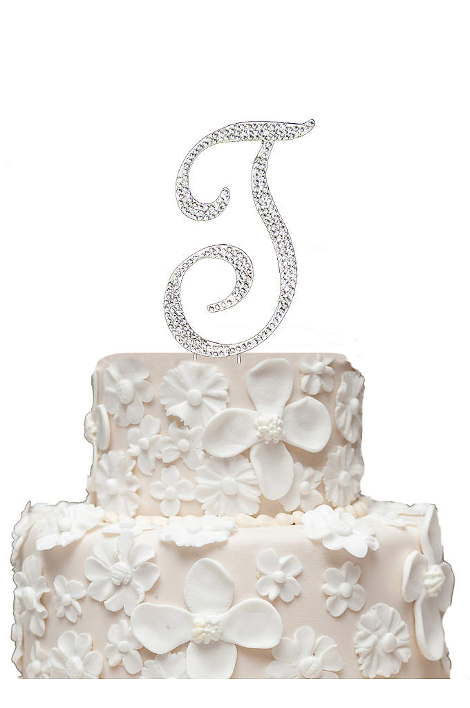Initial Cake Topper with Swarvoski Crystals - These stunning Swarovski crystal cake top monogram letters