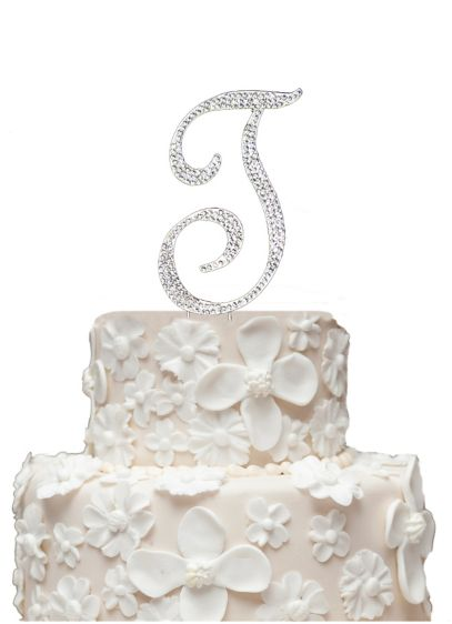 Initial Cake Topper with Swarvoski Crystals - Wedding Gifts & Decorations