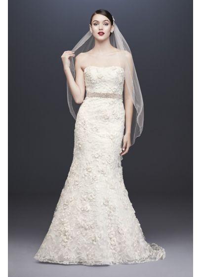 Long Mermaid/ Trumpet Country Wedding Dress - Oleg Cassini