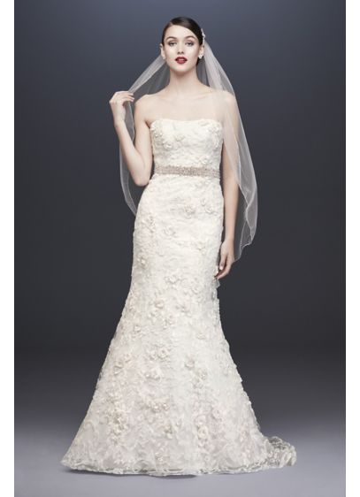Long 0 Country Wedding Dress - Oleg Cassini