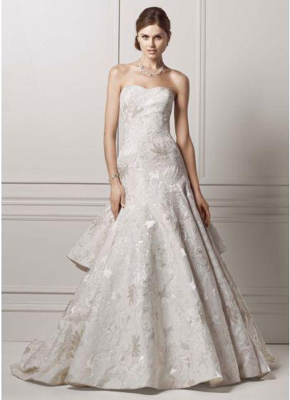 Long 0 Formal Wedding Dress - Oleg Cassini