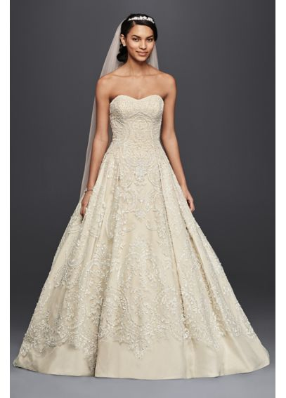 Organza Tulle Ball Gown with Sweetheart Neckline CWG635