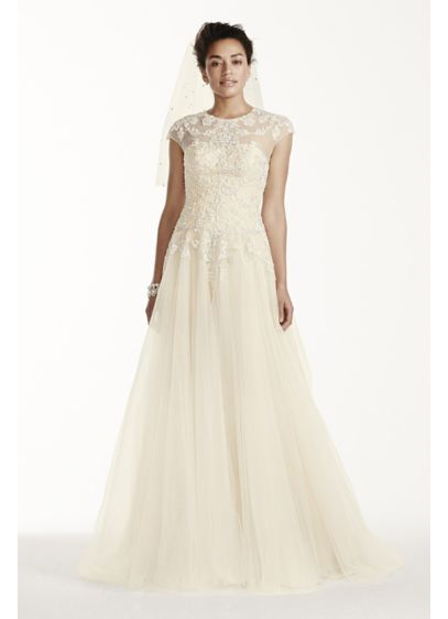 Long Ballgown Vintage Wedding Dress - Oleg Cassini