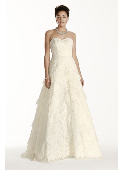 Long A-Line Country Wedding Dress -