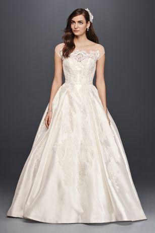 Capsleeve wedding dress