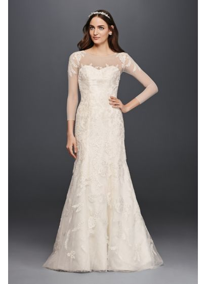 Long A-Line Formal Wedding Dress - Oleg Cassini
