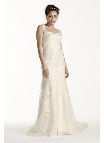 Long Mermaid/ Trumpet Beach Wedding Dress - Oleg Cassini