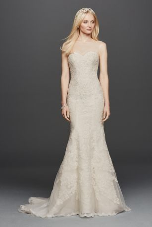 Oleg Cassini Sleeveless Lace Mermaid Wedding Dress Davids Bridal