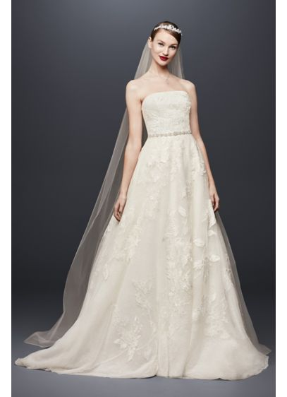 Long Ballgown Romantic Wedding Dress - Oleg Cassini