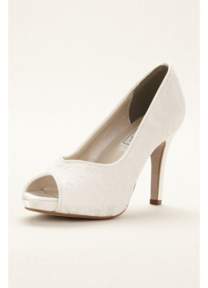 Touch Ups White (Catalina Dyeable Peep Toe Pump by Touch Ups)