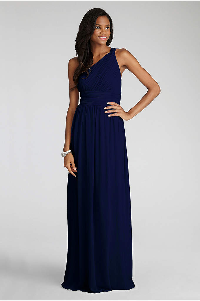 Rachel Chiffon One-Shoulder Bridesmaid Dress - A classic bridesmaid silhouette, this one-shoulder chiffon dress,
