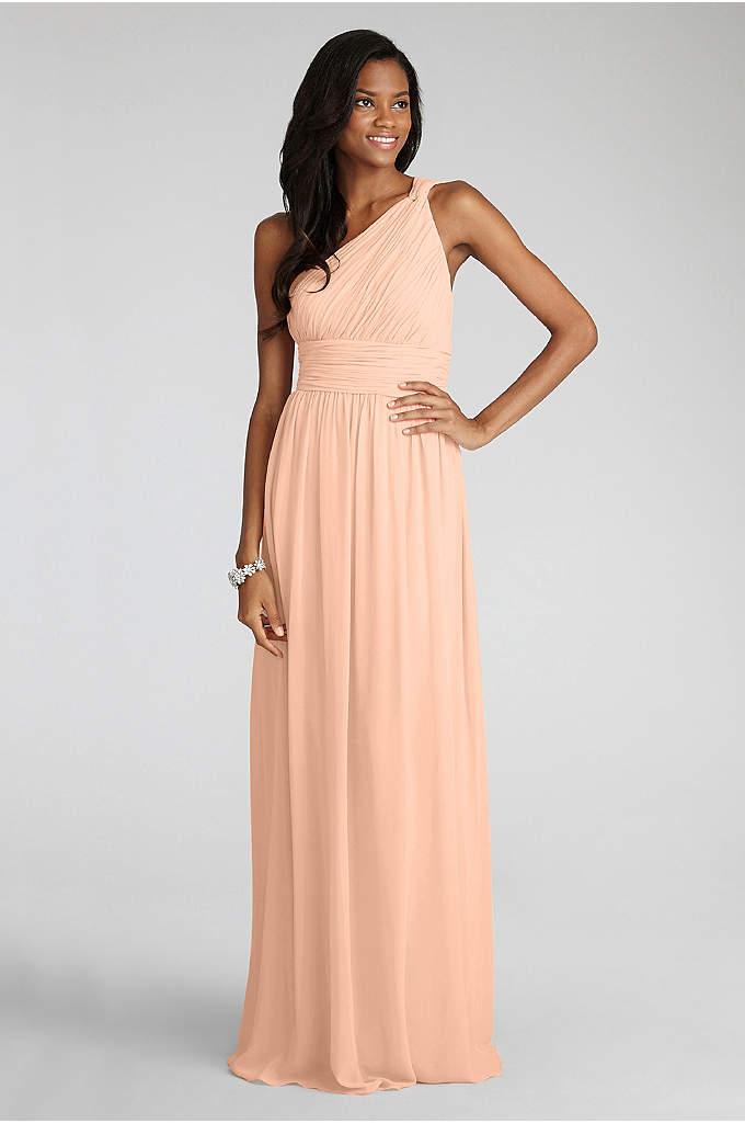 Rachel Chiffon One-Shoulder Bridesmaid Dress - A classic bridesmaid silhouette, this one-shoulder chiffon dress,