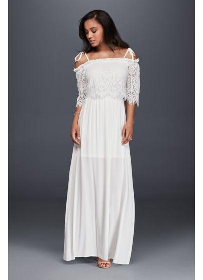 Long Sheath Beach Wedding Dress - Soieblu