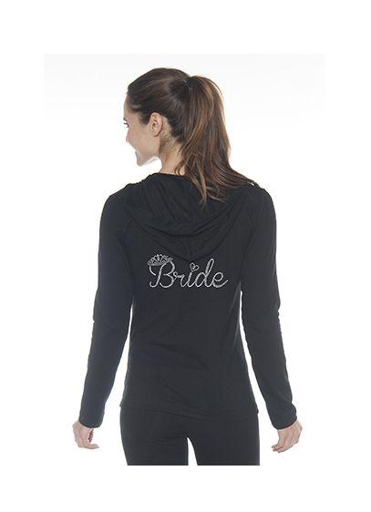 Bride Rhinestone Crown Hooded Jacket - Wedding Gifts & Decorations