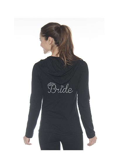 Bride Rhinestone Crown Hooded Jacket D19HOOD