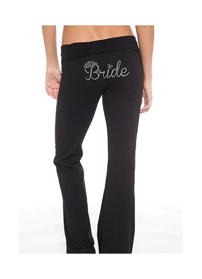 Bride Rhinestone Crown Yoga Pants - Wedding Gifts & Decorations