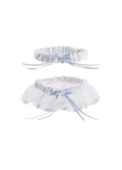 DB Exclusive Something Blue Organza Garter Set D265GWHSET