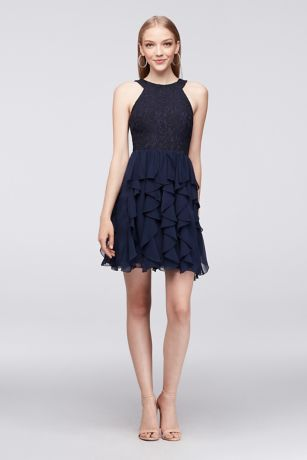 David's Bridal Short Black Dress