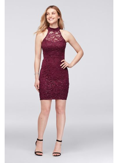 Short Sheath Halter Mother and Special Guest Dress - Speechless