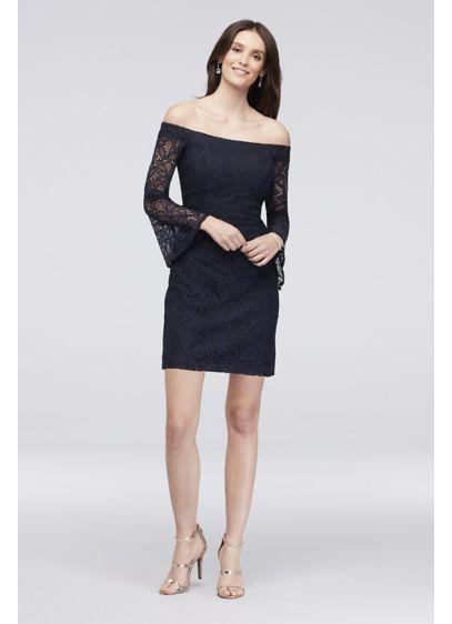 Short Sheath Off the Shoulder Dress -