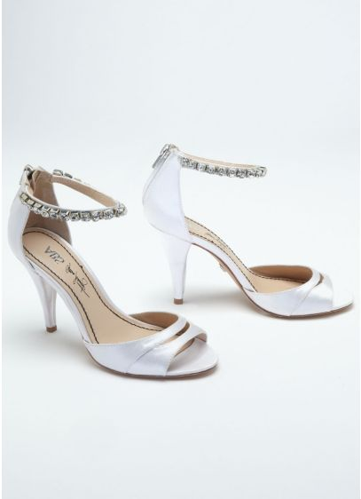 High Heel Sandal with Rhinestone Ankle Strap - Wedding Accessories