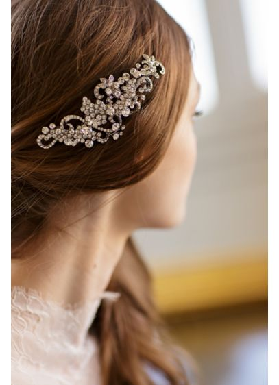 Crystal Filigree Barrette - Wedding Accessories