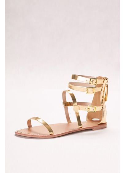 Metallic Gladiator Sandals - Wedding Accessories