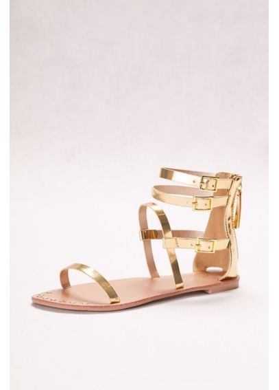 Metallic Gladiator Sandals DATHENA949