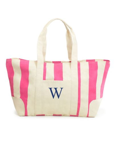 Personalized Striped Canvas Tote - Wedding Gifts & Decorations