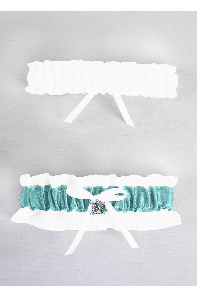 DB Exclusive Crystal Monogram Garter Set - A single initial letter charm is the perfect