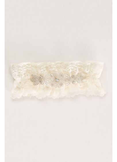 Crystal Embellished Lace Wedding Garter - Wedding Accessories
