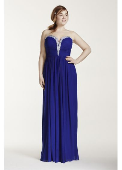 Crystal Embellished V-Plunge Neckline Prom Dress DB01DBW