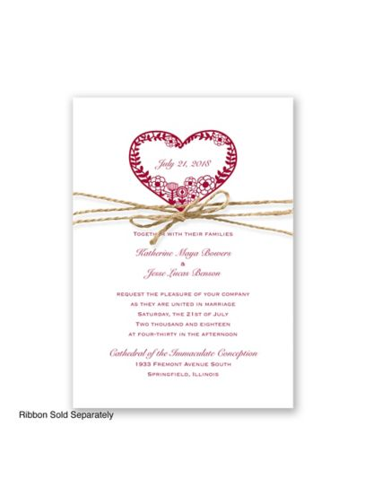 Natures Heart Invitation Sample - Wedding Gifts & Decorations