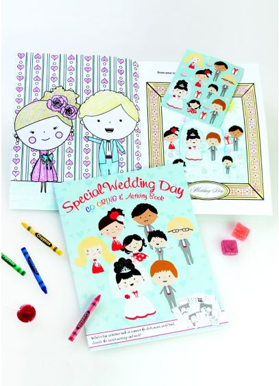 Wedding Day Coloring and Activity Book - Wedding Gifts & Decorations