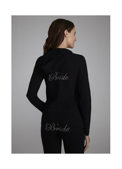 White (Bride's Rhinestone Hooded Jacket)