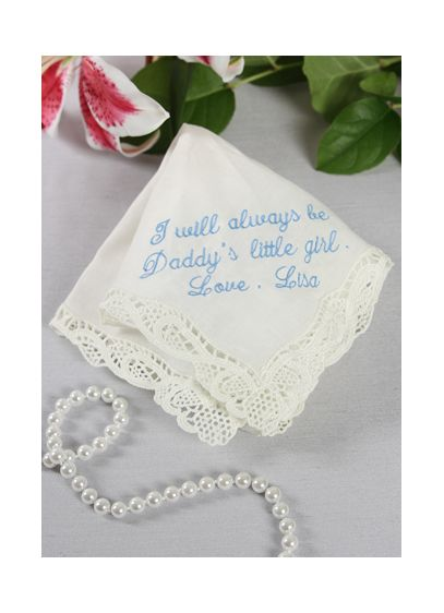 Personalized Handkerchief Daddy's Little Girl Poem - Wedding Gifts & Decorations