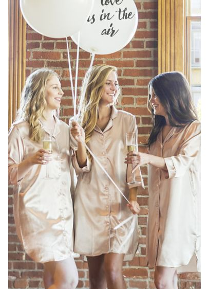 Blank Satin Night Shirt - Wedding Gifts & Decorations