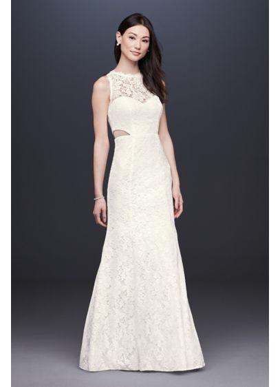 Long Mermaid/ Trumpet Modern Chic Wedding Dress - DB Studio